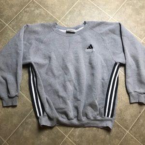 Vintage 90s Gray Adidas Crewneck